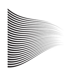 perspective speed motion lines wavy horizontal vector image