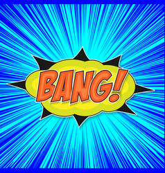 pop art bomb bang vector image