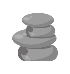 rocks stones spa isolated icon vector image