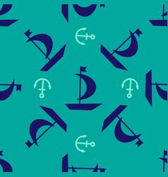 sailboat seamless pattern vector image