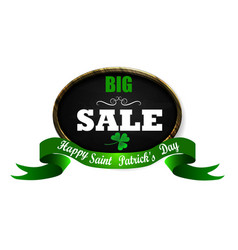 sale poster for st patrick s day vector image