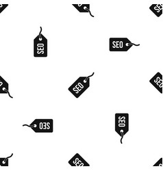 Seo tag pattern seamless black vector