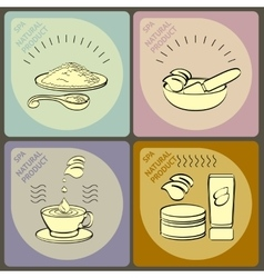 set icons spa themed vector image