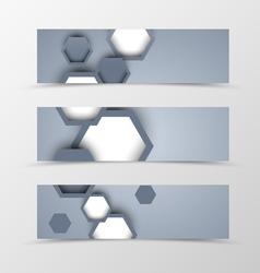 Set of header banner dynamic design vector