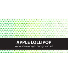 shamrock pattern set apple lollipop seamless vector image
