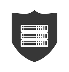 Shield data center security system protection icon vector