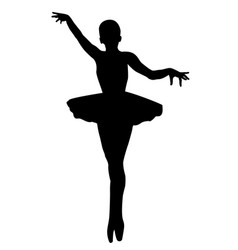 silhouette of ballerina vector image