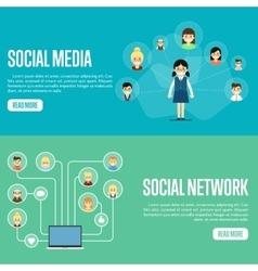 social media network website templates royalty free vector