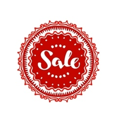 Stamp with text Sale written inside Lettering vector