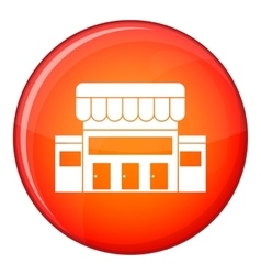 Supermarket building icon flat style vector image