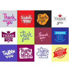 Thank you quote text citate slogan message vector