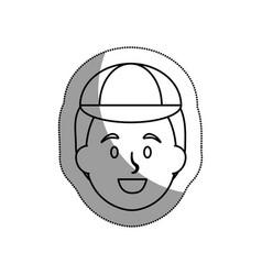 Tourist man traveler avatar vector