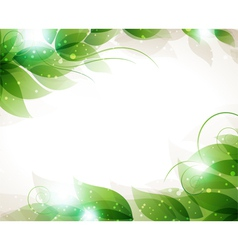 Transparent green leaves vector