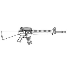 typical army rifle vector image