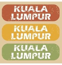 Vintage Kuala Lumpur stamp set vector