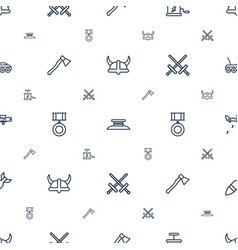 War icons pattern seamless white background vector