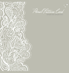 White brocade card template vector