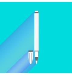 White felt-tip pen cartoon vector