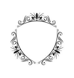 black classic triangular contour vintage frame vector image vector image