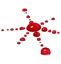 Blood Drops vector image vector image