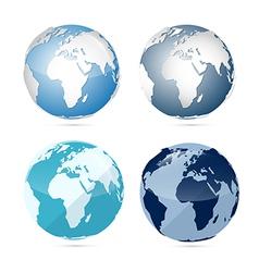 Earth World Globe Map Icons vector image