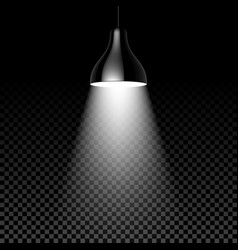 hanging lamp on black transparent background vector image vector image