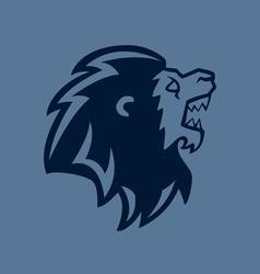 Roaring Lion Head Line Art vector image vector image