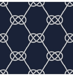 Seamless nautical rope pattern Carrick Bend knot vector image