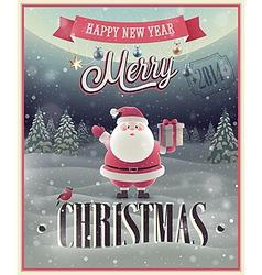 christmas Santa poster vector image vector image
