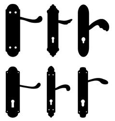 door knobs vector image