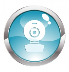 gloss button with web cam vector image