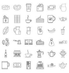 jar icons set outline style vector image vector image