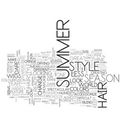 what will be hot in the summer of text word cloud vector image vector image