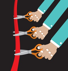 Cut Ribbon Opening Ceremony vector image