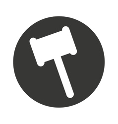 gavel hammer isolated icon vector image