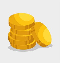 golden coins isolated icon vector image