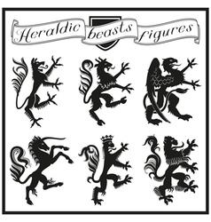 Heraldic beasts figures vector image vector image