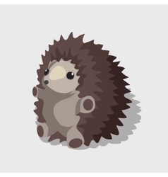Nice childrens toy gray hedgehog vector image vector image