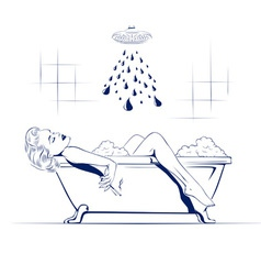 relax in the bathroom vector image