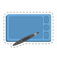 smartphone technology pen digital touchscreen vector image