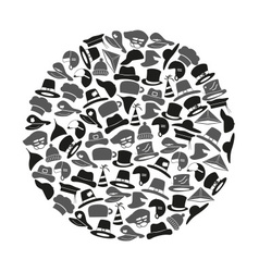 various hats icons set in circle eps10 vector image vector image