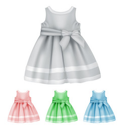 baby dress blank template vector image vector image