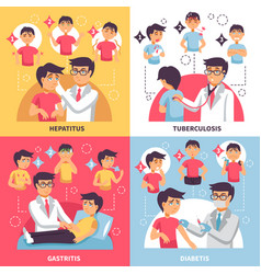 diagnosis illnesses conceptual composition vector image