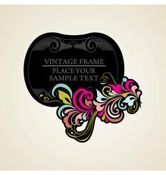 Elegance vintage frames for your text vector image vector image