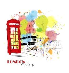 European capital London vector image vector image