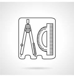Line icon geometry vector image vector image