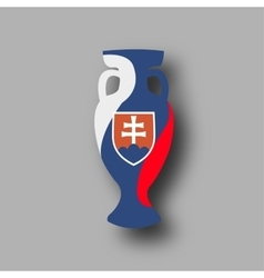 sport competition cup Slovakia participant vector image