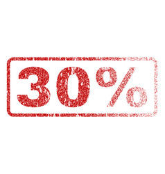 30 percent rubber stamp vector image