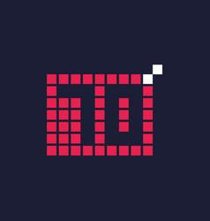 70 year anniversary pixel number template design vector