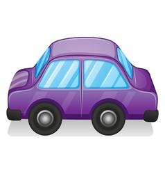 A violet toy car vector